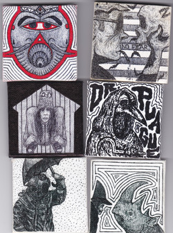 Assorted mini canvases