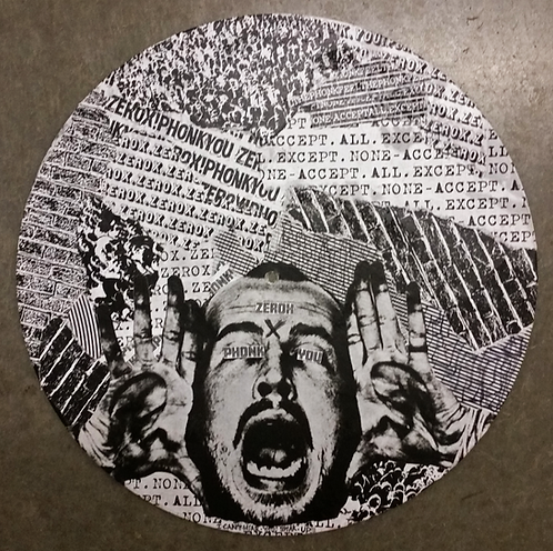 """I Can't Hear You!"" - Collage on 12"" Vinyl"