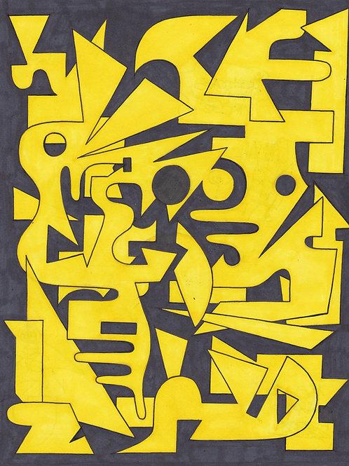 """Dreamscape of a Mirage"" - 8.5""x11"" Pen & Ink"