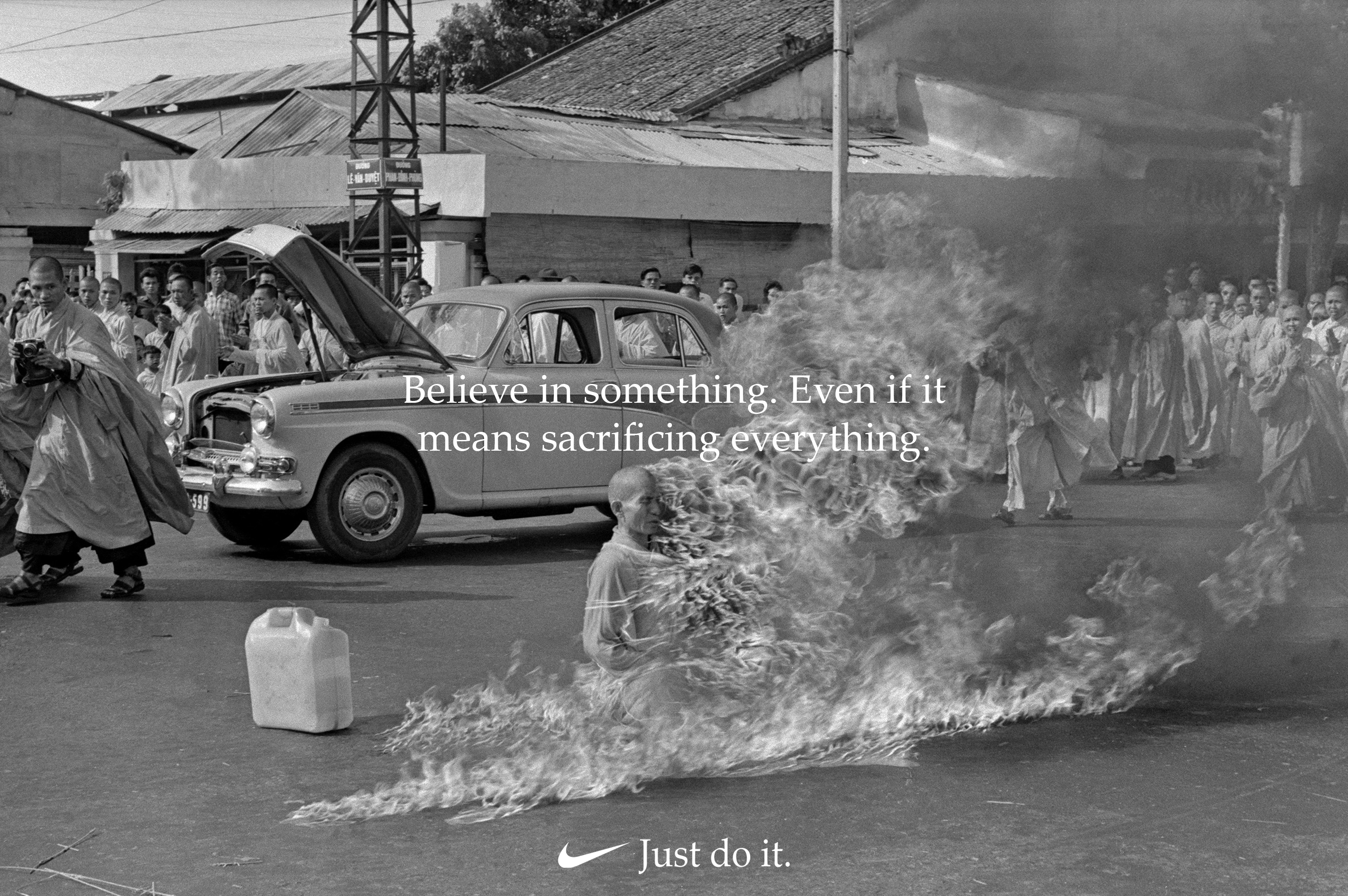 Just Do It - Self Immolation Monk