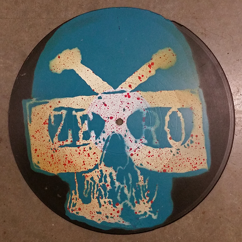 """Psychomaniac"" - Stencil on 7"" Vinyl"