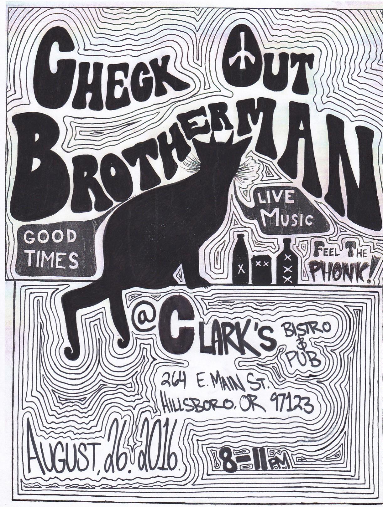 Brotherman Gig Poster