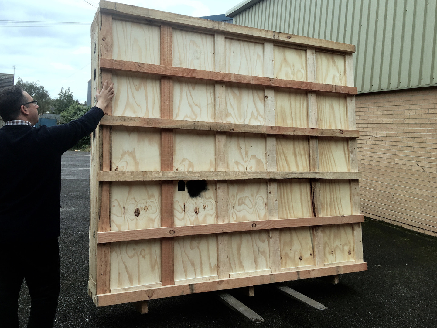 Loading crate from York for export