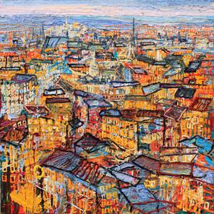 'Edinburgh' 6x 6 ft, oil on canvas