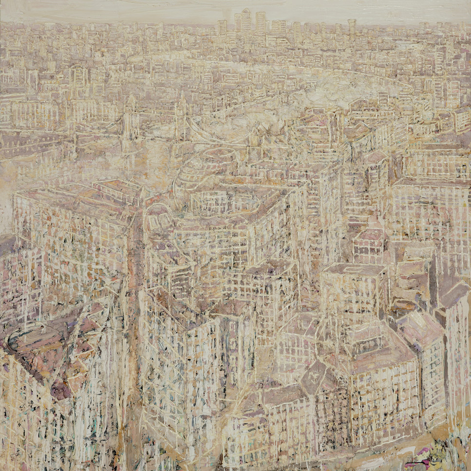 London from The Shard. oil on canvas, 6