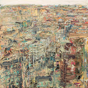 'London from Tower 42' 6 x 6 ft