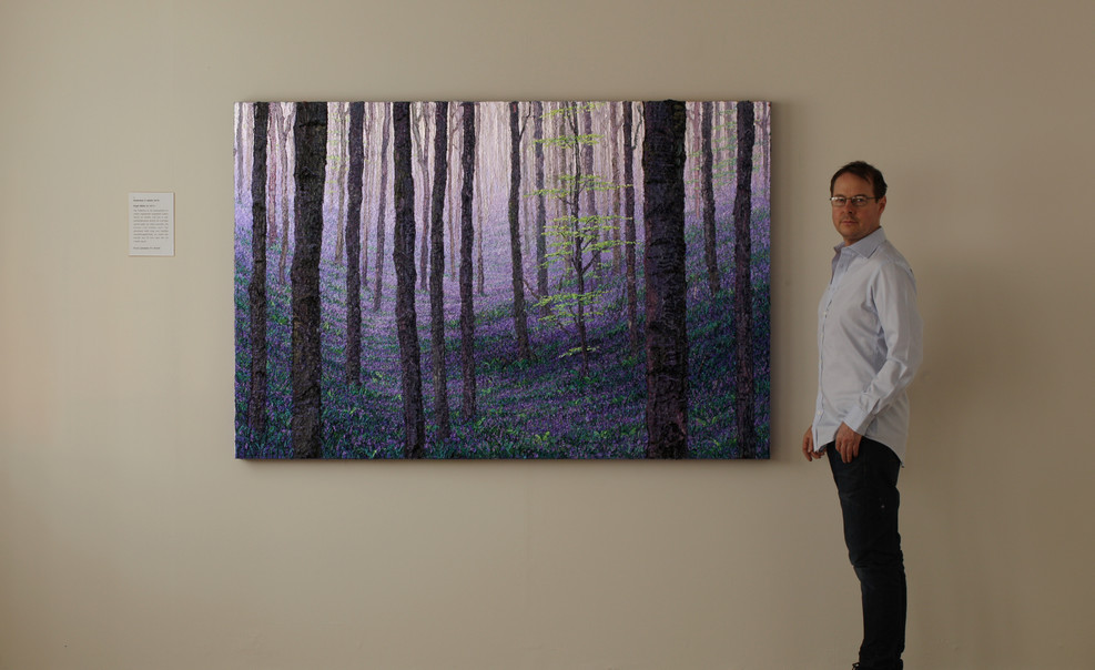Bluebells, 4 x 4 ft oil on canvas
