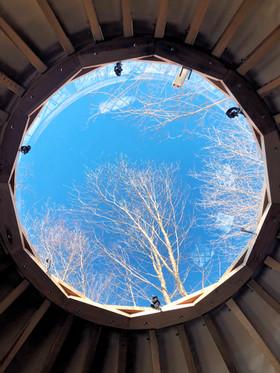 Puit de lumière en hivers - Yourte _ La