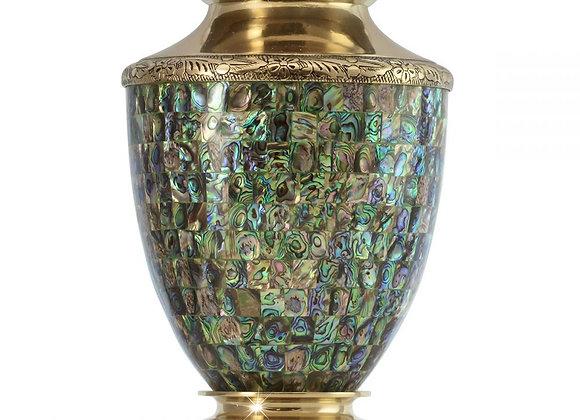 Abalone Brass Urn