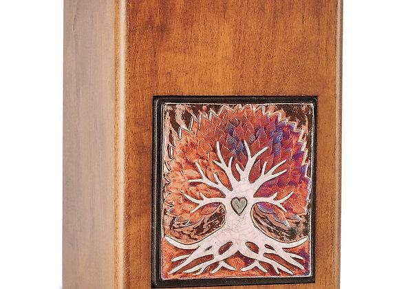 Raku Wood Tree Cremation Urn