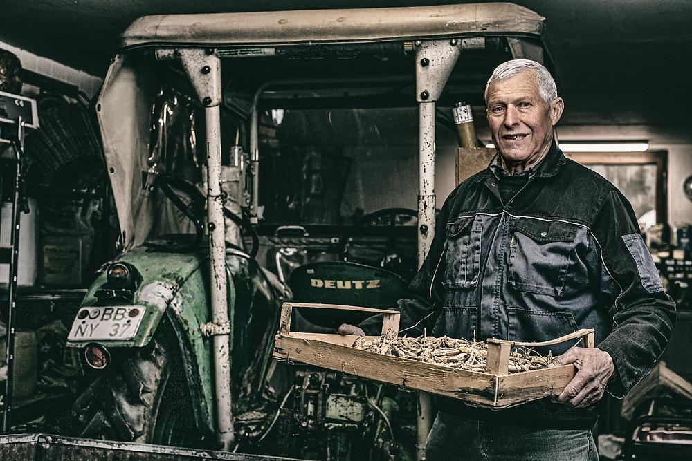 Portrait von einem Bauern