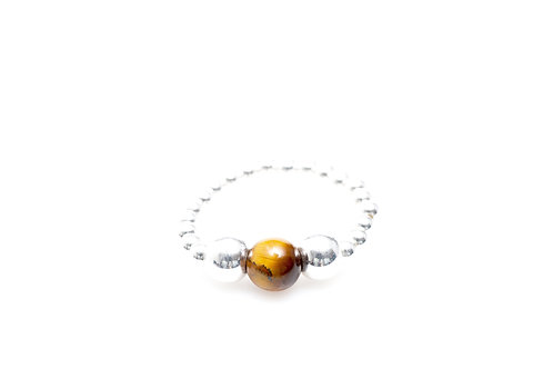 BAGUE TIGER EYE