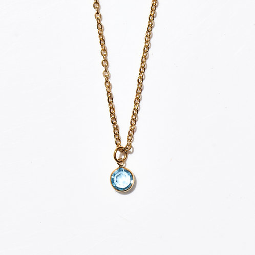 Pastille  gold Swarovski bleu pale