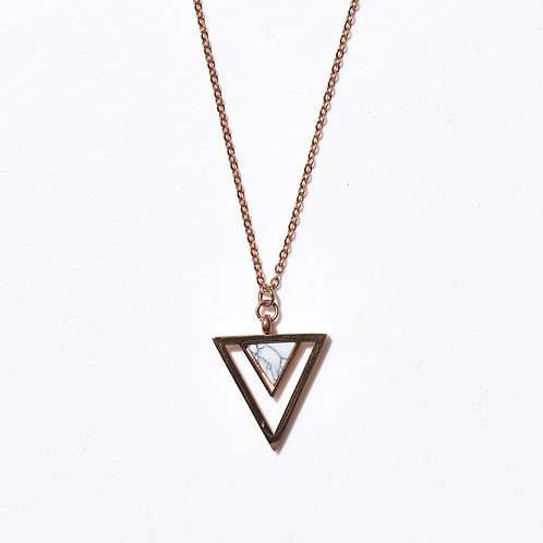 Triangle Rose Gold