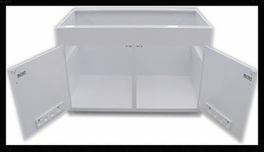 Custom | Plastic Fabricated | Casework | PVC Cabinet | Plastic | Polypropylene | Vented Doors