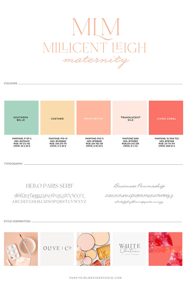 Millicent Leigh Maternity Brand Guide.jp