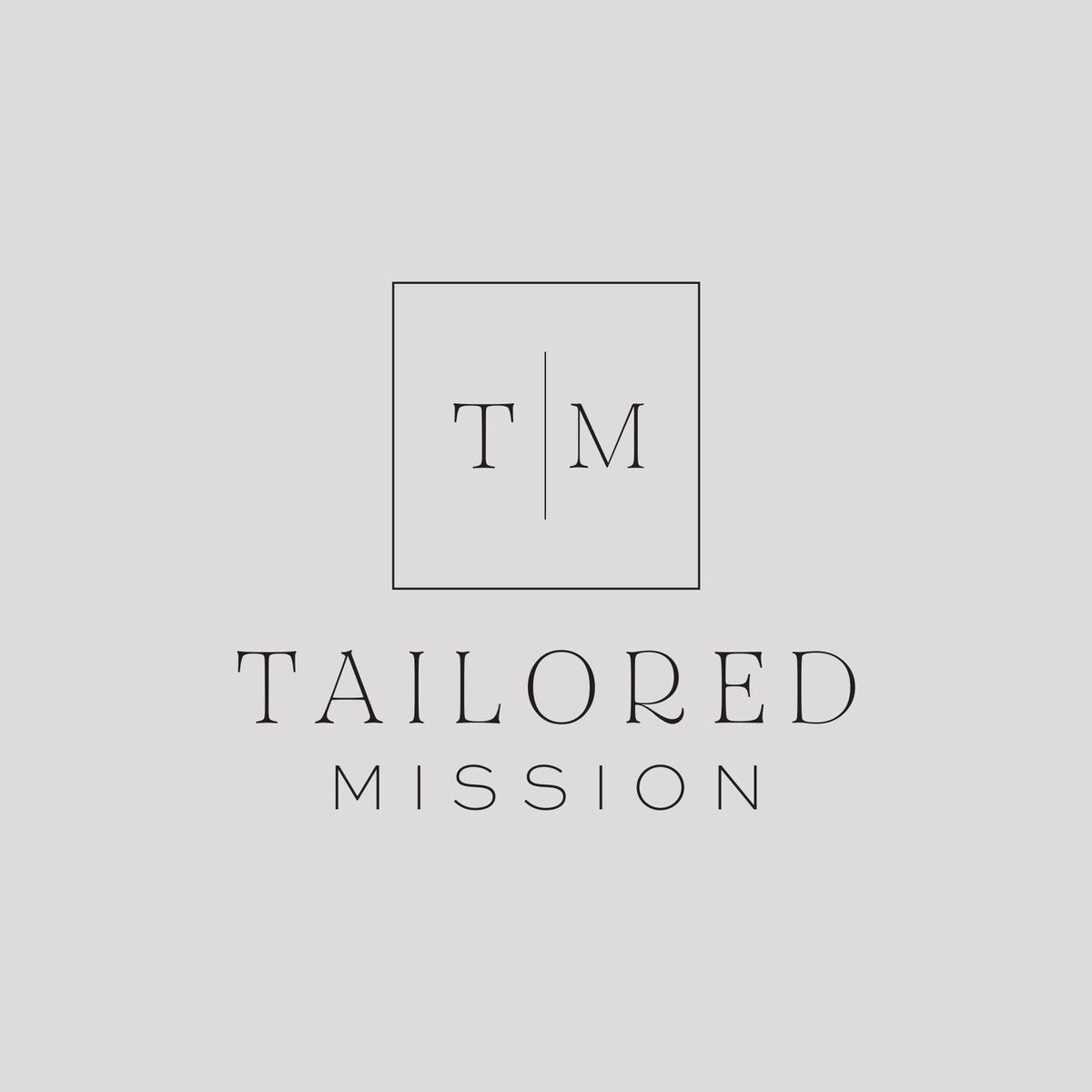 Tailored Mission Logo Gray