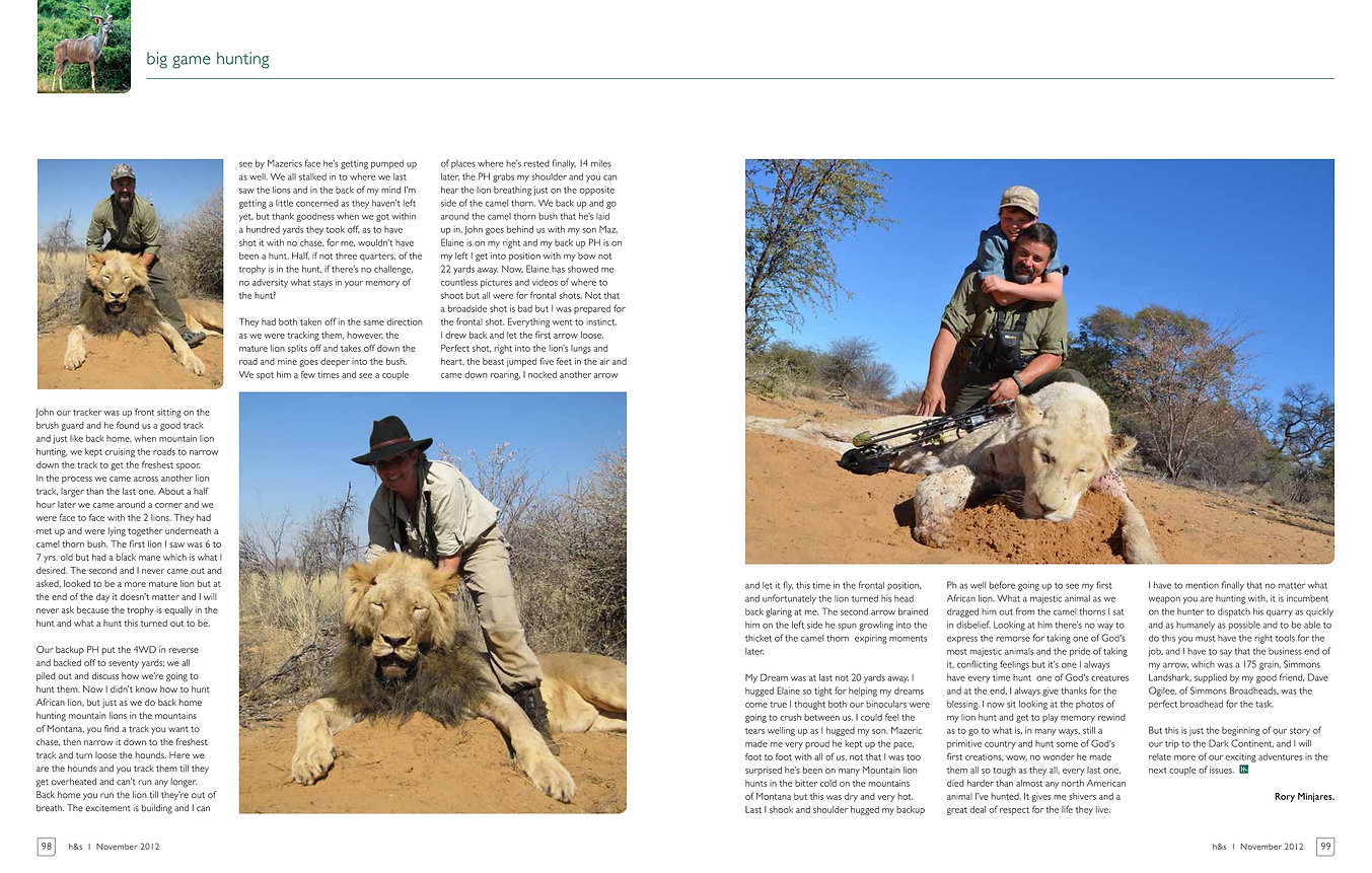 Lion Bow Hunt by Elaine Ness