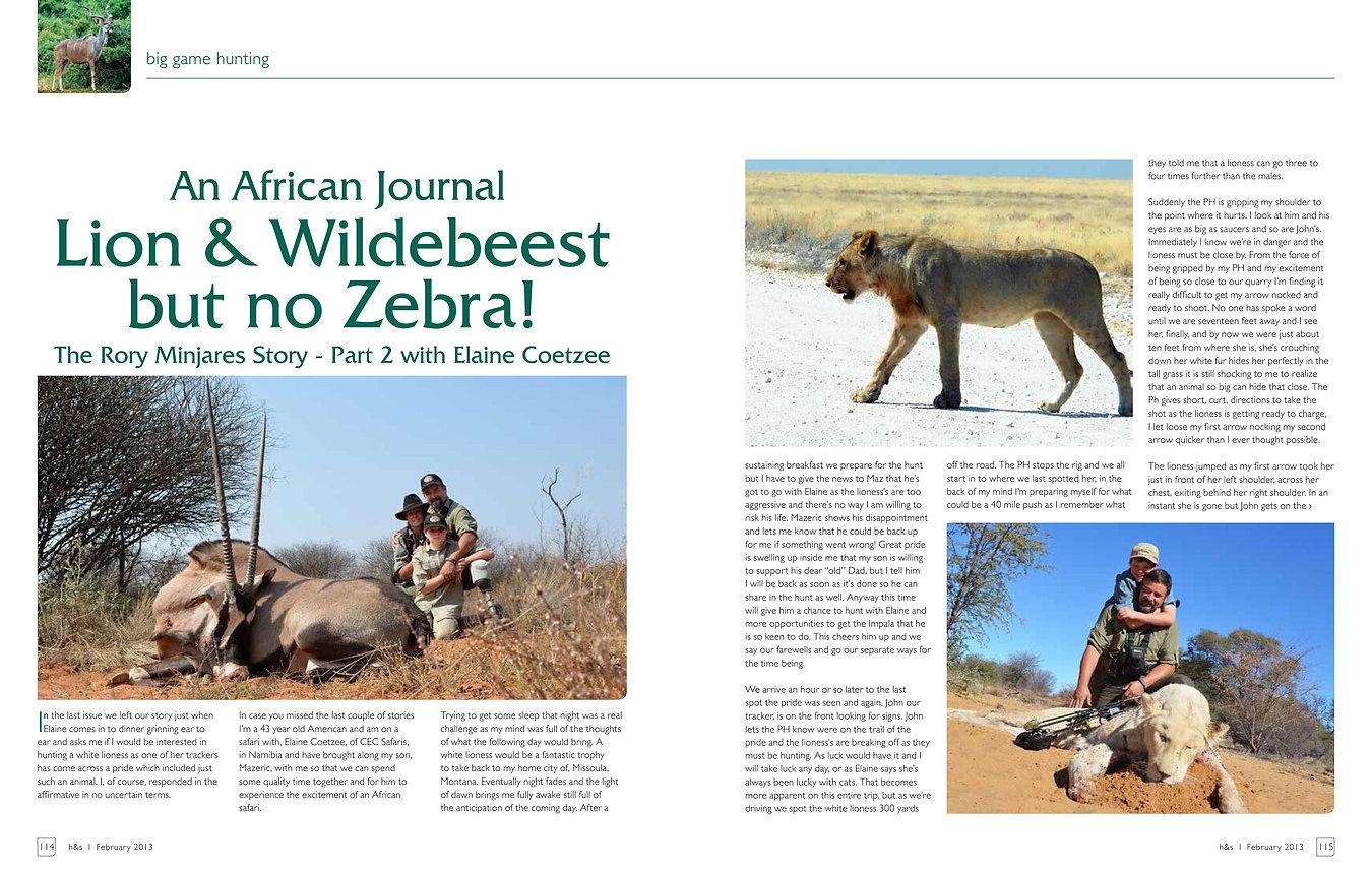 Lion & Wildebeest but no Zebra