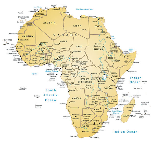 Hunt to Preserve Africa Map - Elaine Ness
