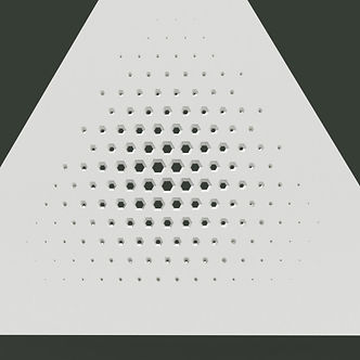 Triangle hexagon halftone taper minus 12