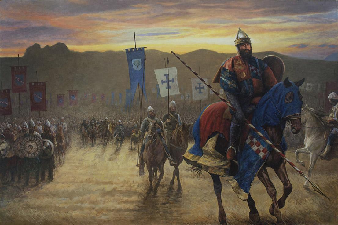 Cosenza Roger II leading troops