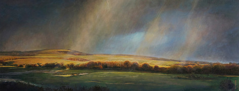 Sun and rain over the Trundle