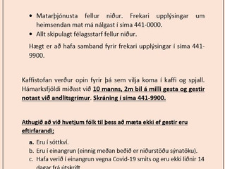 Allt óbreytt í félagsmiðstöðvunum til 1. desember n.k.