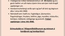 Nýjar reglur frá og með 19. apríl í félagsmiðstöðvunum