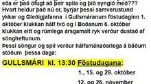 """""""Gleðigjafasöngur"""" í Gullsmára og Boða."""