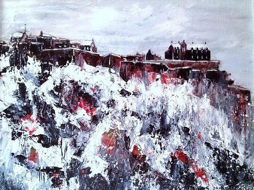 JAR 010 Edinburgh Castle in the Snow by Jackie Ridge