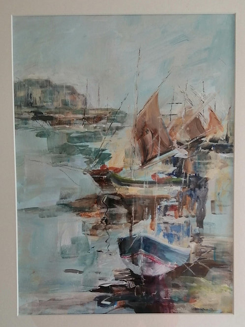 MMM 001 Harbour Brittany by Margaret Masterman