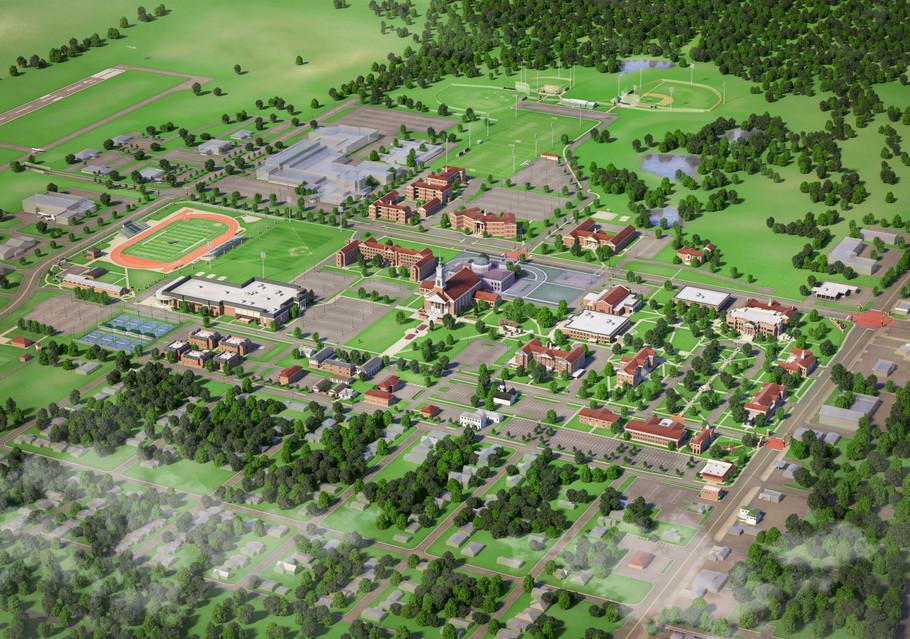 Oklahoma Baptist University Campus Map