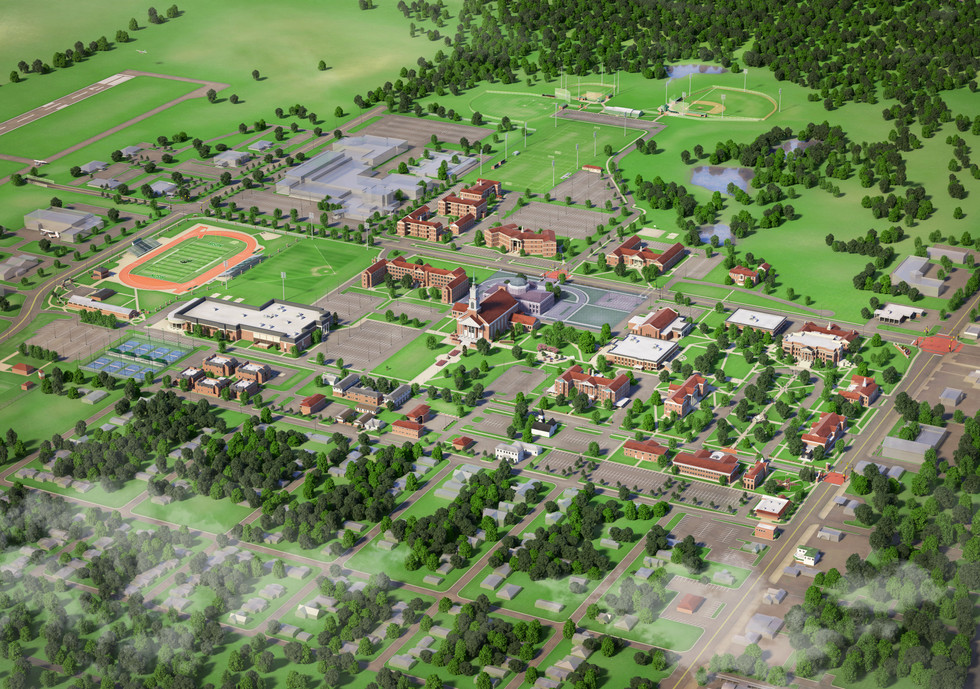 Oklahoma Baptist University Campus Map
