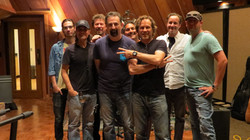 In studio with the gang in Nashville