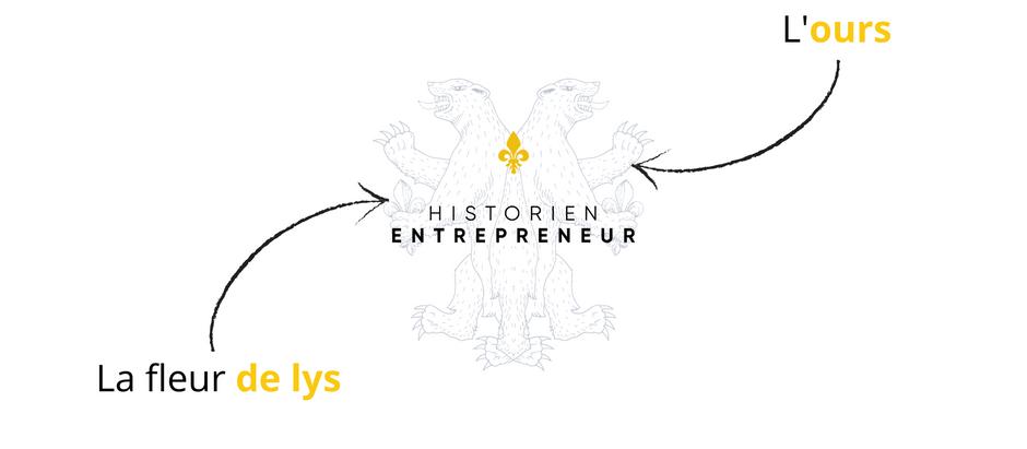 Que signifie le logo d'Historien entrepreneur ?