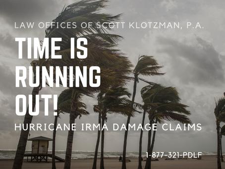 Hurricane Claim Deadline