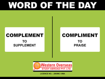 Word of the day Complement compliment.jp
