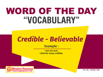 Word of the Day - Vocabulary 12-11-2018.