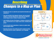 Describing changes to a map or plan 1-11