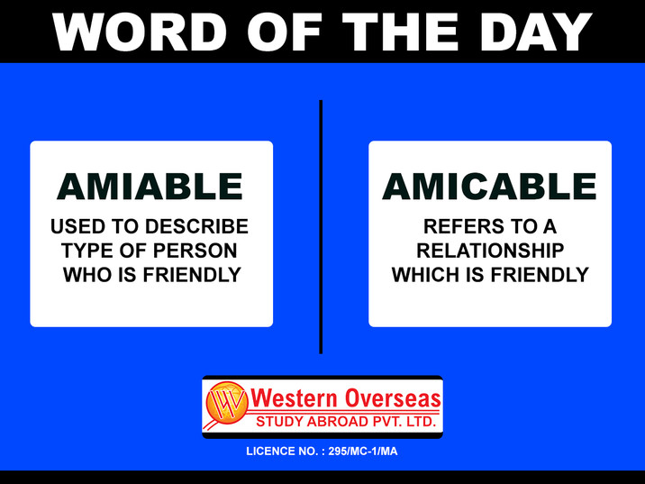Word of the day Amiable Amicable.jpg