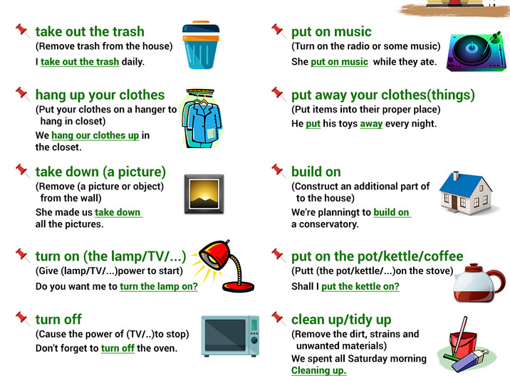 Phrasal Verbs around the house 03-06-202