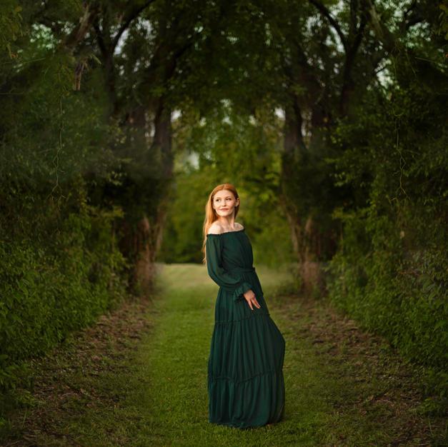 Forrest Green Floor Length Dress