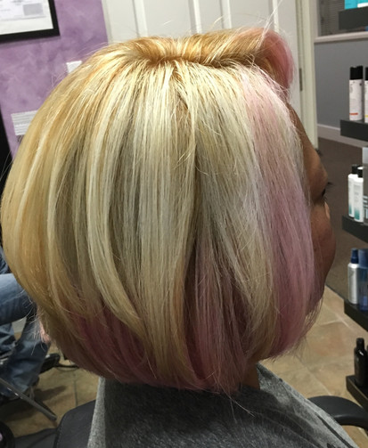 Blonde/Cotton Candy Pink