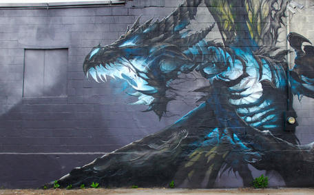Ben Watson mural dragon