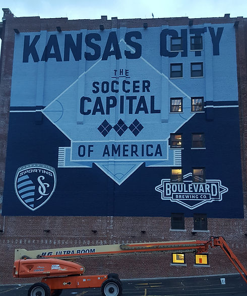 Sporting KC mural by Evolution Sign and