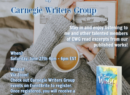 Professional Virtual Reading Event June 27th!