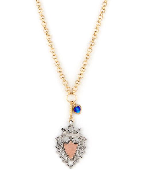 Victorian Silver Shield & Heart Icon