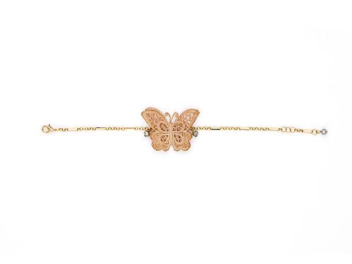 Vintage Cotton Butterfly Bracelet