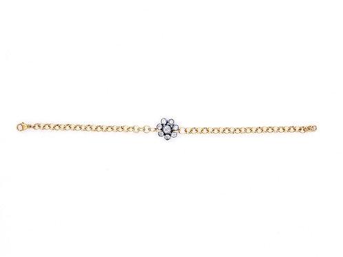 Single Edwardian Cluster Bracelet